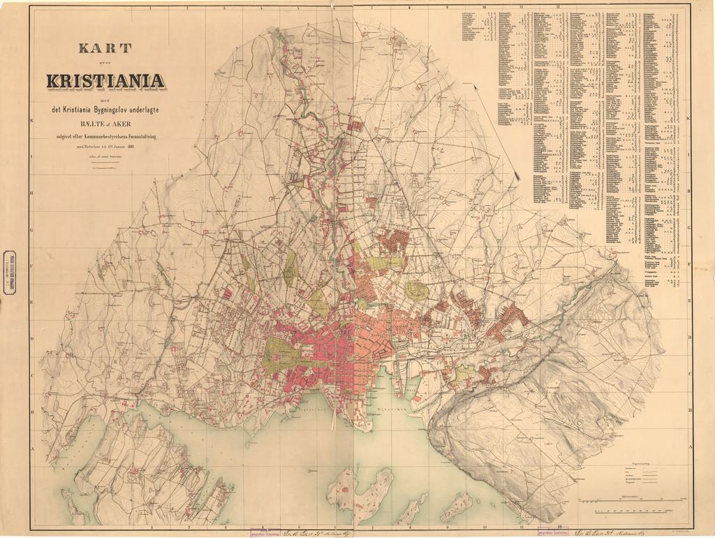 kristiania kart Oslo – hbrgeo kristiania kart