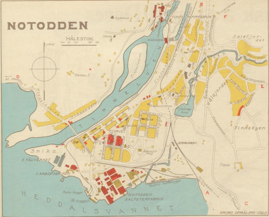 notodden kart Notodden Geo – hbrgeo notodden kart