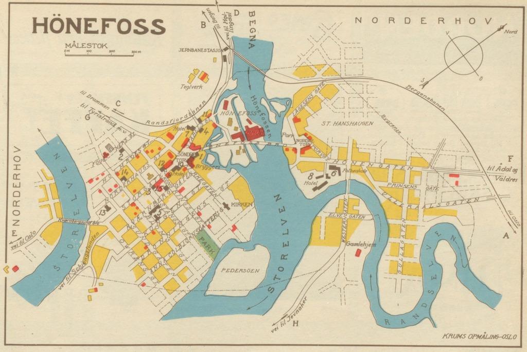 kart hønefoss sentrum Samleside – hbrgeo kart hønefoss sentrum