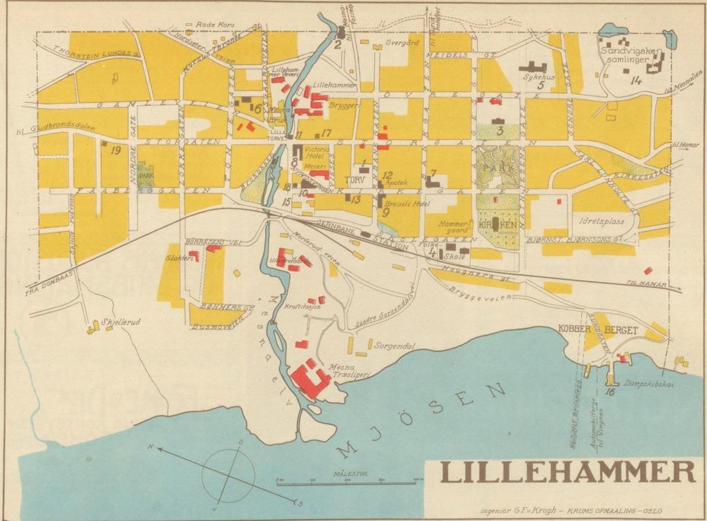 kart lillehammer Lillehammer Geo – hbrgeo kart lillehammer