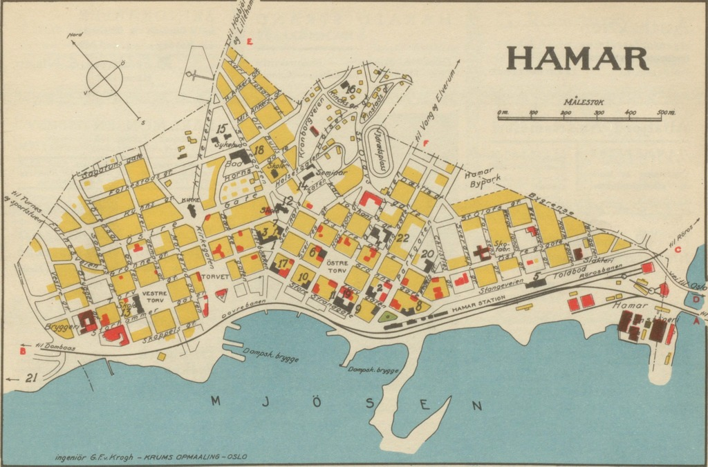 kart over hamar sentrum Hamar Geo – hbrgeo kart over hamar sentrum