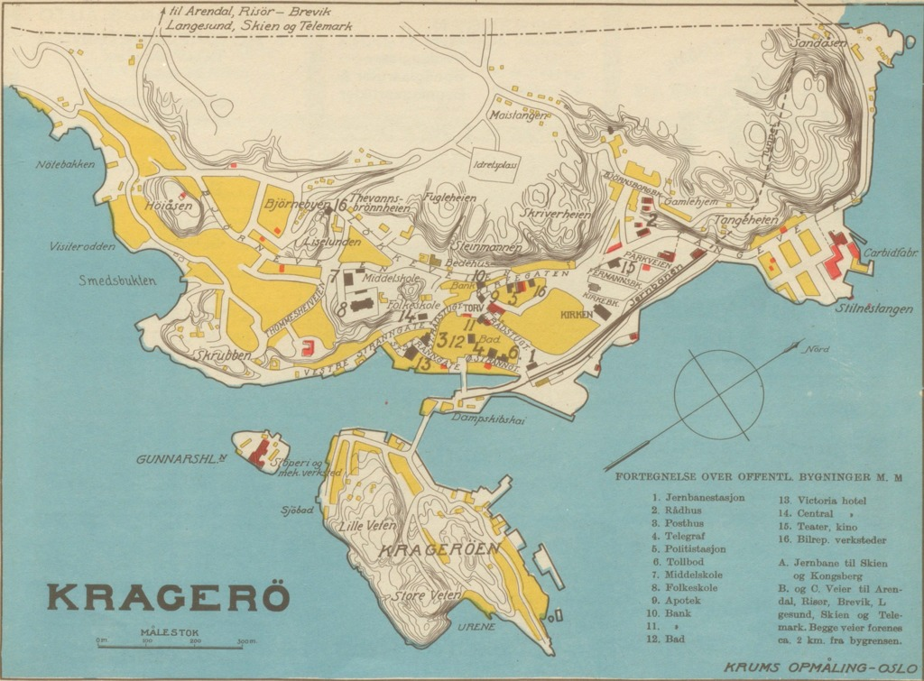 kragerø kart Kragero Geo – hbrgeo kragerø kart